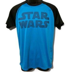 Star Wars Men's Blue/Black Short Sleeve Shirt